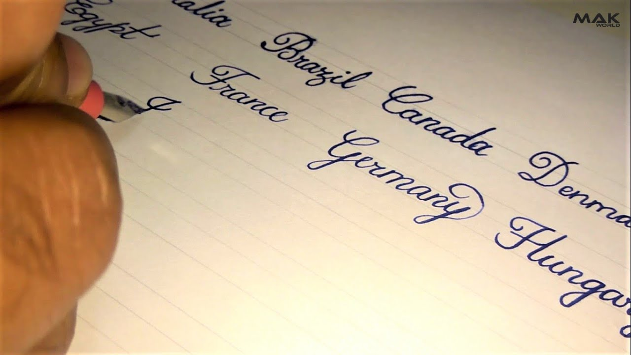 Beautiful Calligraphy cursive handwriting | Names of ...