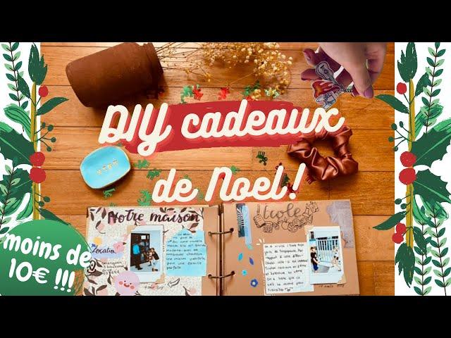 DIY idées de CADEAUX de Noel moins de 10 € et dernières-minutes !