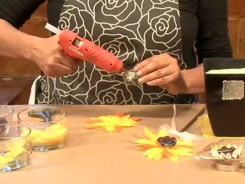 Cmo hacer un arreglo de girasoles de tela con chocolates