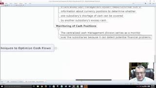 Fin225 Chapter 21 International Cash Management Mind Map Dr George Mochocki