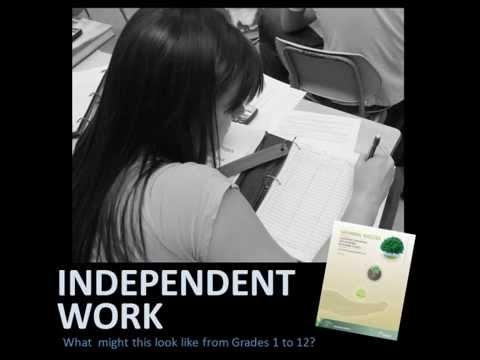 Understanding Learning Skills & Work Habits: Independent Work