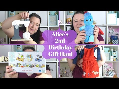 Alice's 2nd Birthday Gift Haul | Toddler Gift Guide
