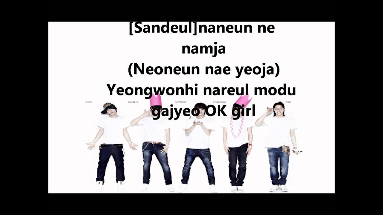 B1A4- O.K lyrics [Eng. | Rom. | Han.] - YouTube
