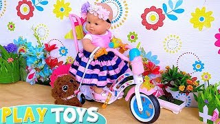 Play Baby Doll Bike Ride Toys!