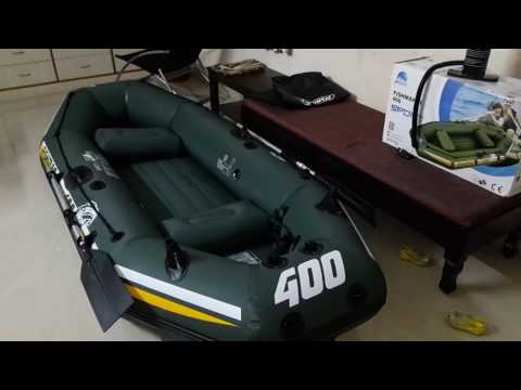 7a67b3c52cd Jilong fishman II 400 sport Inflatable Boat - Out of Box Review - YouTube