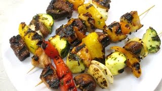 Shish Kabobs - Tender Teriyaki Beef, Chicken And Mesquite Pork Marinades - Poormansgourmet