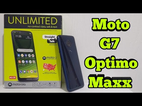 Moto G7 Optimo Maxx Unboxing & First Look (Straight Talk)