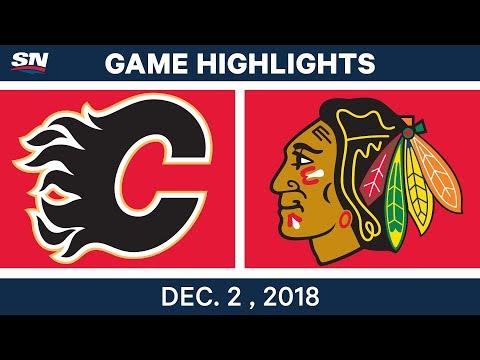 NHL Highlights | Flames vs. Blackhawks - Dec 2, 2018