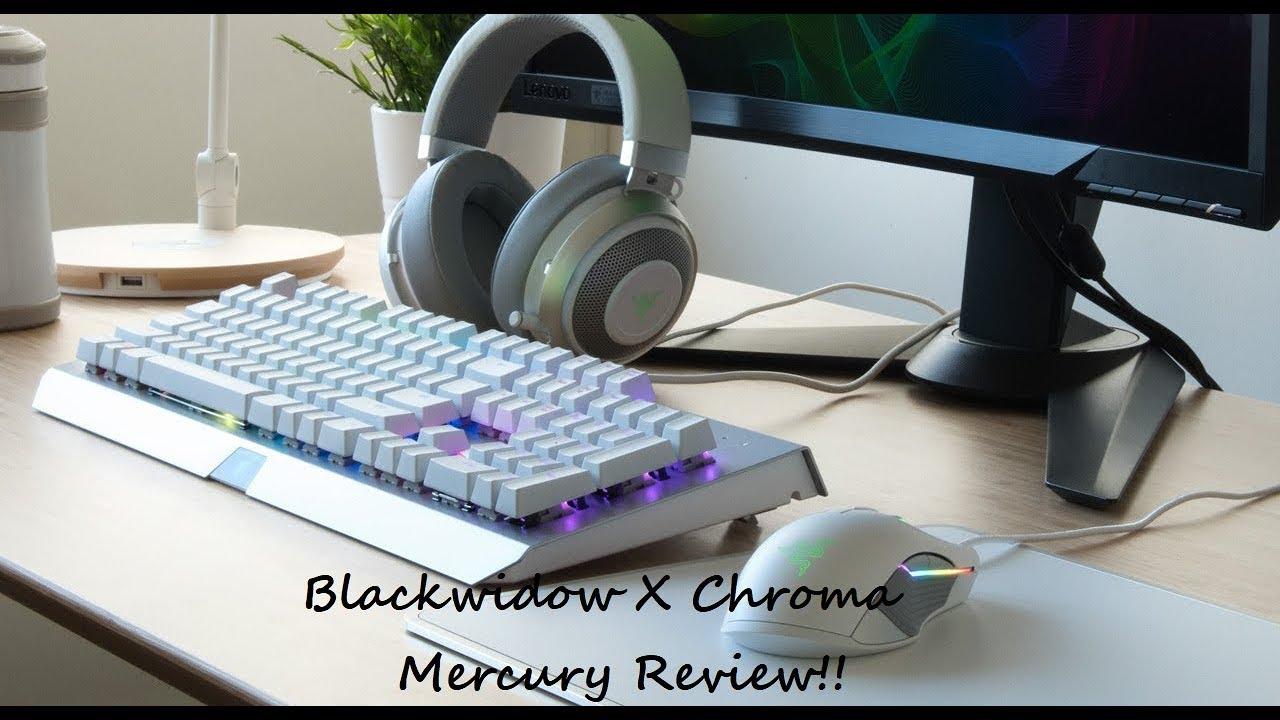 50b4e6c10fe Razer Blackwidow X Chroma Mercury Review!!! - YouTube