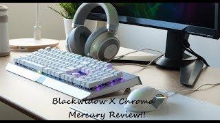 Razer Blackwidow X Chroma Mercury Review!!!