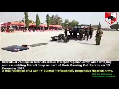 Recruits of 76 Regular Recruits Intake Depot Nigerian Army incredible  display