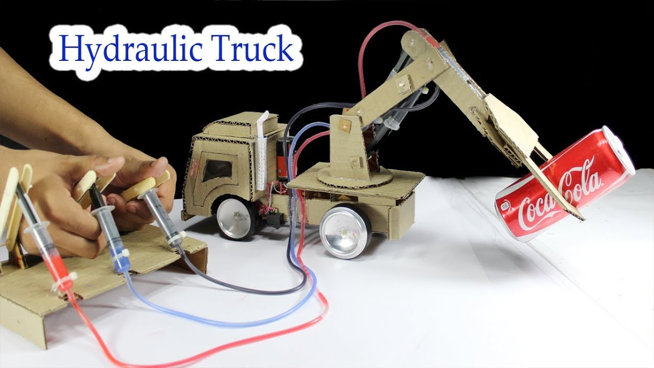 Cardboard Hydraulic Ar : How to make hydraulic truck from cardboard at home youtube