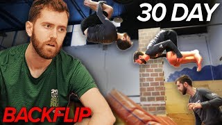 I Tried to Learn to Backflip in 30 Days...here's how it went