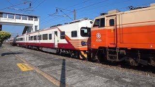 3188次區間車與8727次迴送列車在石龜車站交會