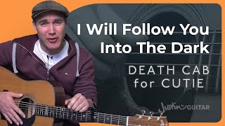 I Will Follow You Into The Dark - Death Cab For Cutie - Acoustic Guitar Lesson (SB-106) How to play