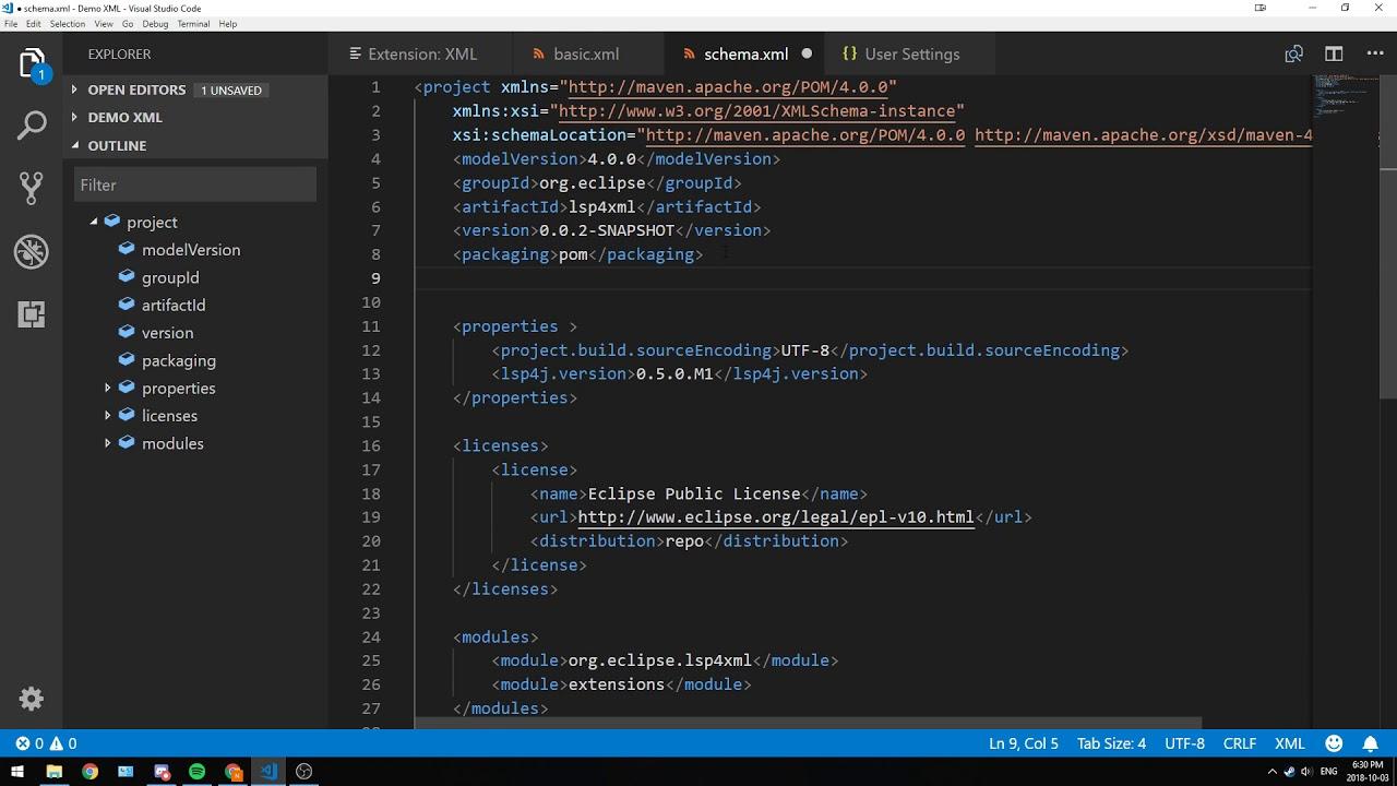 XML Language Server and the VSCode Extension - Red Hat Developer Blog