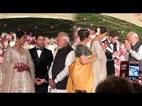 PM Narendra Modi Attends Newly Wed Priyanka Nick Jonas Wedding Reception In Delhi