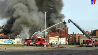 Fire in a Vacant Church - Detroit, Box Alarm, Grand River Ave & Belleterre, 10/19/2014.