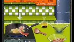 "Play ""Sara's Cooking Class - Garlic Pepper Shrimp game"" (http://www.y8.com)"