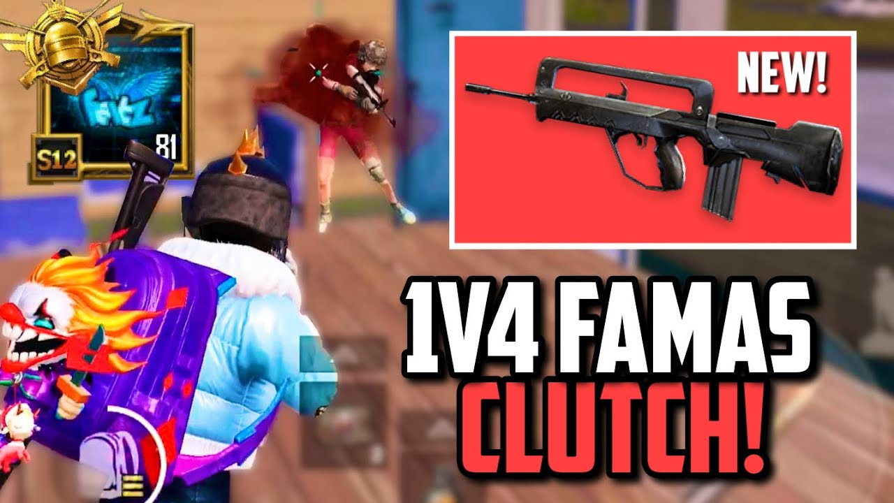 NEW FAMAS 1V4 CLUTCH FOR CHICKEN DINNER! | PUBG Mobile