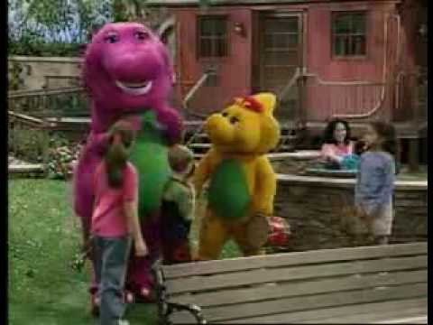 Selena Gomez and Demi Lovato on Barney