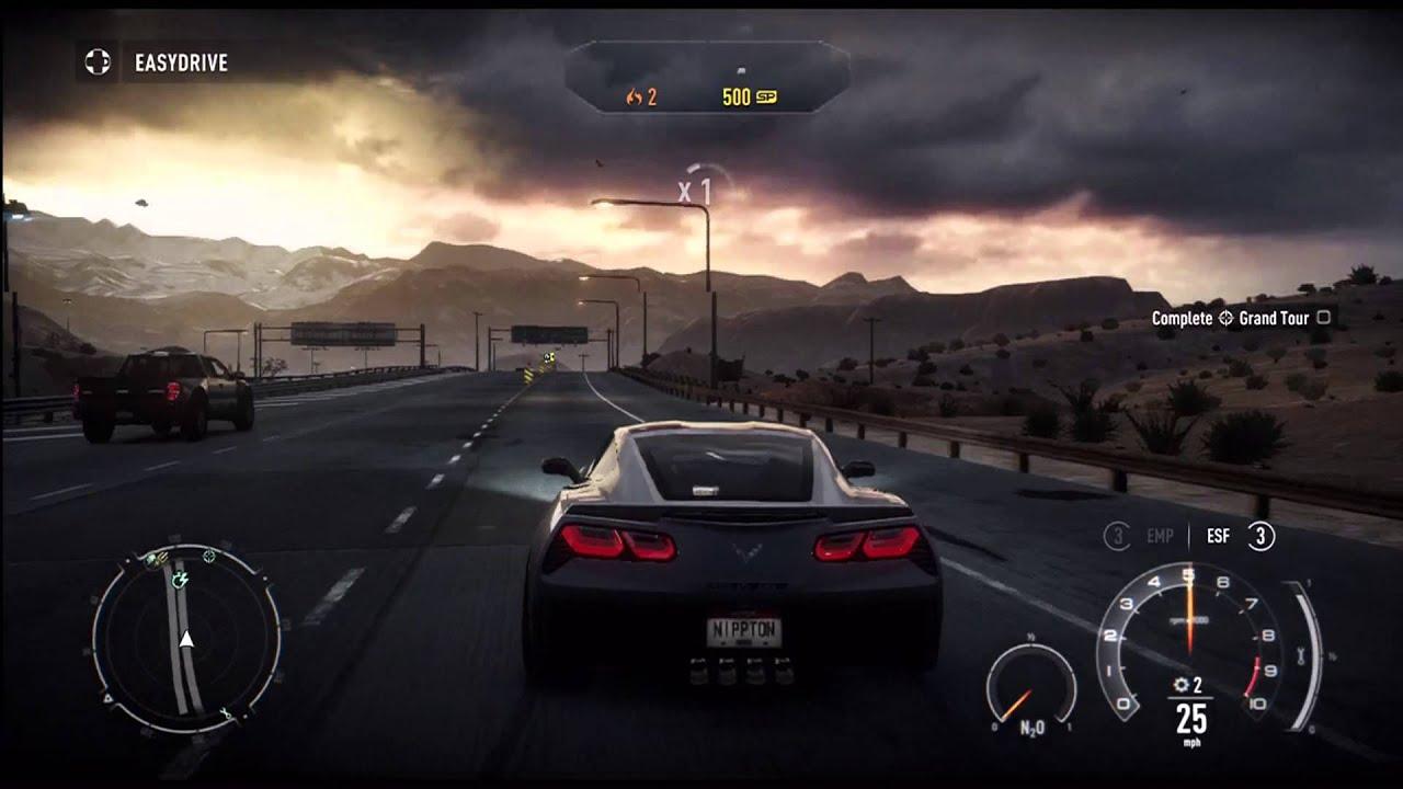 Need For Speed Rivals Chevrolet Corvette Stingray TOP SPEED TEST