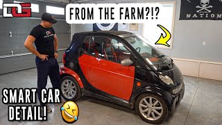 Cleaning a Farmer's DIRTY Smart Car! | Mercedes Smart Car Detailing Transformation