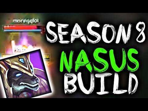 NEW RUNES + MASTERIES NASUS SEASON 8 BUILD - SirhcEz