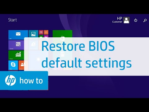 How to Restore BIOS Default Settings on HP Notebooks