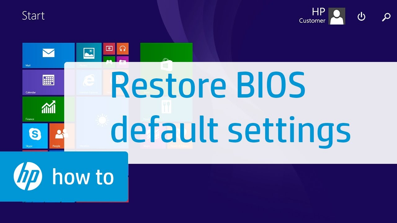 How to Restore BIOS Default Settings on HP Notebooks | HP Notebooks | HP