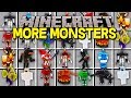 Minecraft MORE MONSTERS MOD! | 100+ NEW MOBS, DRAGONS, BOSSES, WIZARDS, & MORE! | Modded Mini-Game