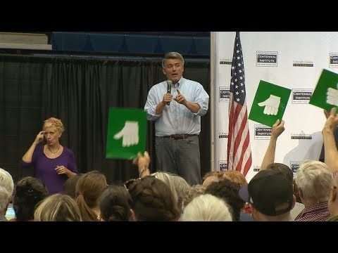 Sen. Gardner shouted down at town hall