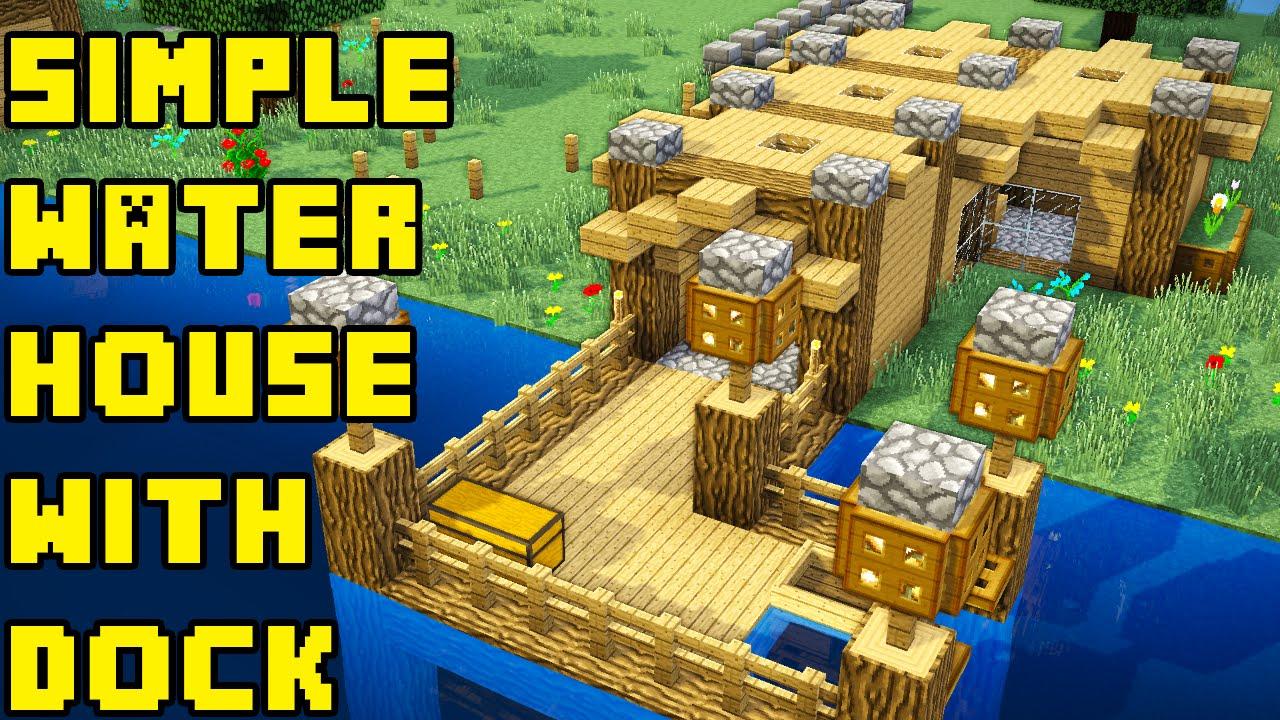 Minecraft Simple BoatFishing Lake Water HouseBase