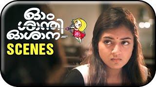 Om Shanti Oshana Movie Scenes HD | Nazriya mistakes Nikki Galrani as Nivin Pauly's girlfriend
