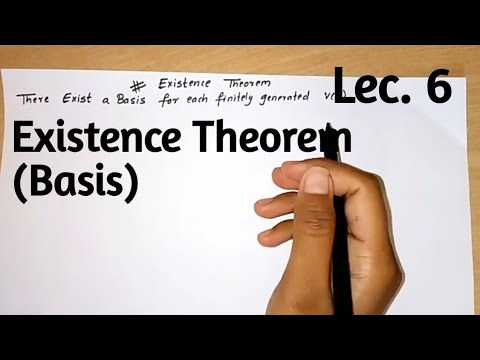 Existence Theorem || Basis|| There Exist Basis For Finitely Generated V(F)