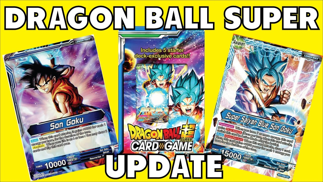 Dragon Ball Super Card Game - Info Update - YouTube