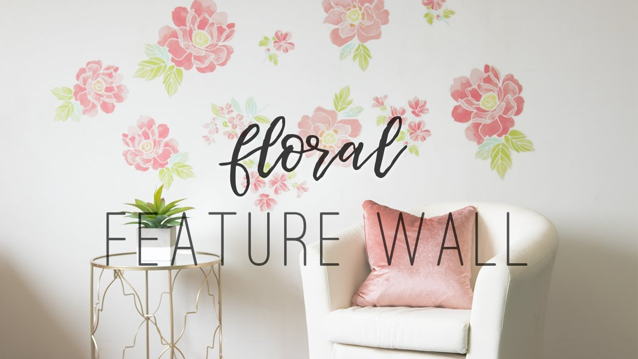 Diy flower wall using decals youtube diy flower wall using decals mightylinksfo
