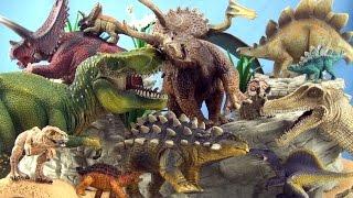 14 Schleich Dinosaurs Mother and Baby Dinosaur Collection - Tyrannosaurus Spinosaurus