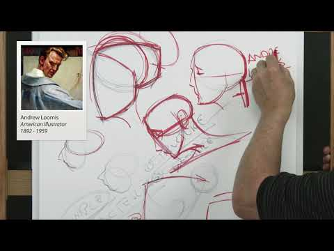NMA.art FREE SAMPLE / How to Draw the Head / Face / Portrait with Steve Huston PART 1 (3 HOURS!)