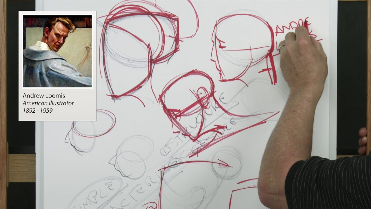 How to Draw the Head and Face / Portrait with Steve Huston PART 1 HD (3 HOURS LONG)