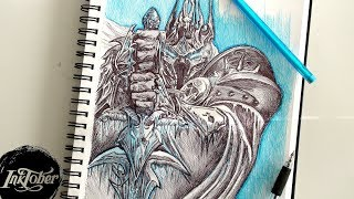 THE LICH KING PEN DRAWING - INKTOBER DAY 3