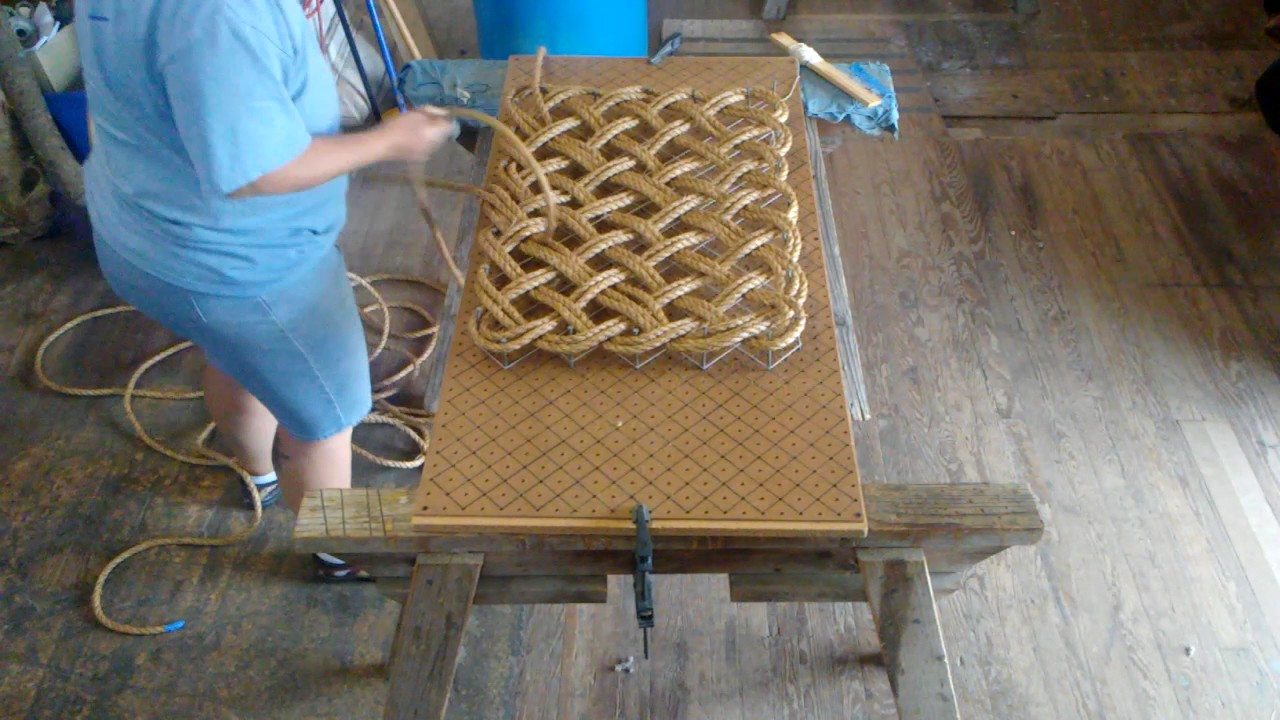 Time Lapse Making A Rope Mat Youtube