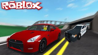 ROBLOX - MY NISSAN G-TR IS FASTER THAN A LAMBORGHINI IN A POLICE CAR CHASE