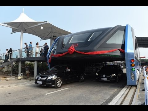 Awesome China's Futuristic Transport Technology Launches 1st On Road
