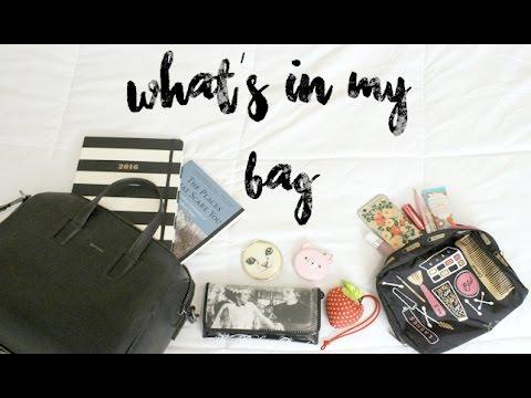 WHAT'S IN MY VEGAN BAG | Matt & Nat