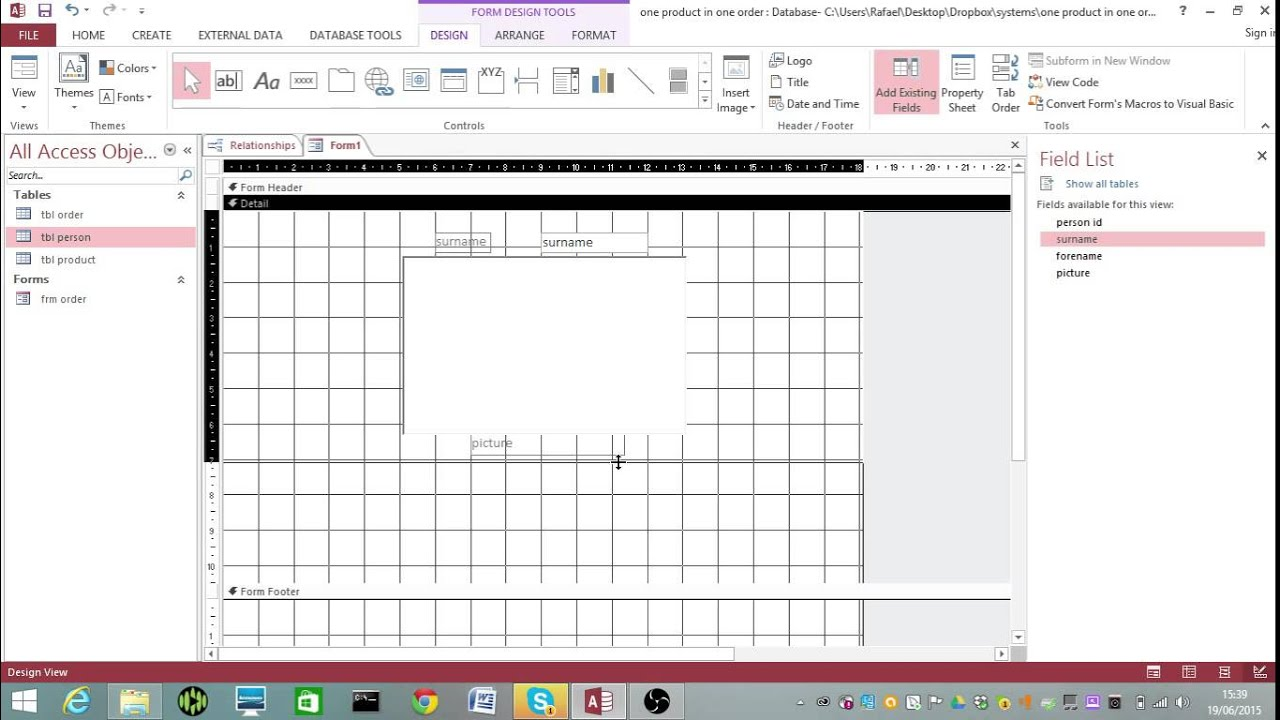 How to create an Order form for a 3 table structure. - YouTube
