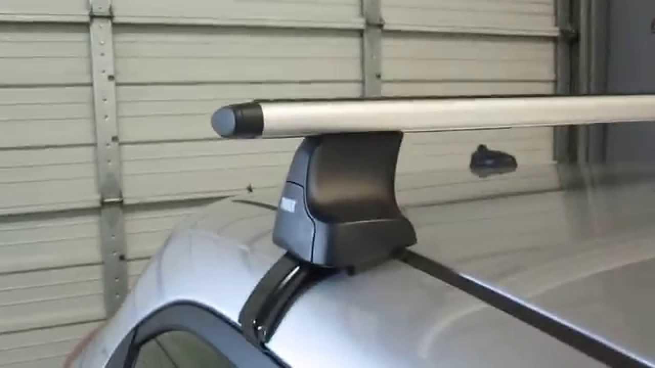 Kia Rio 5 Door With Thule 480r Aeroblade Base Roof Rack By