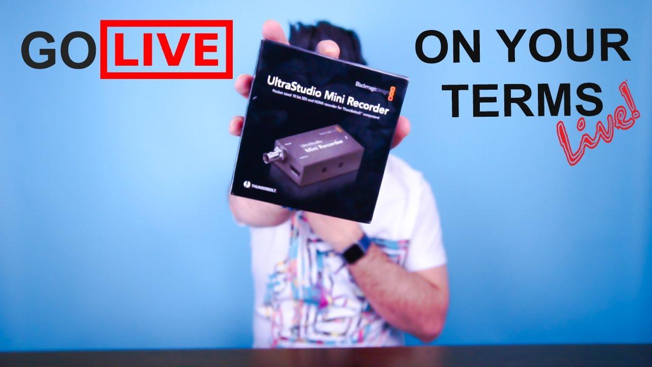 Blackmagic Design Ultrastudio Mini Recorder A Must Have Youtube