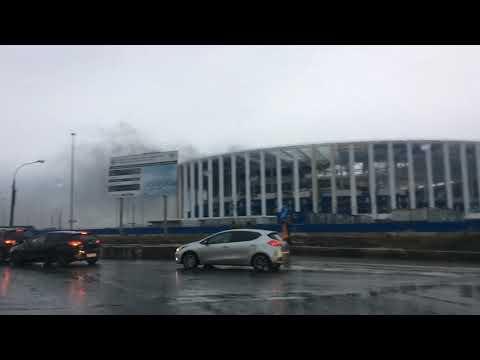 Пожар стадион Нижний Новгород