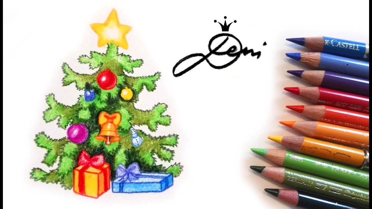 weihnachtsbaum malen christbaum zeichnen how to draw a christmas tree. Black Bedroom Furniture Sets. Home Design Ideas